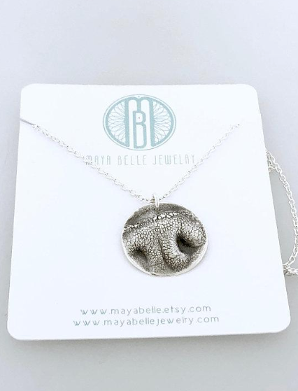 Pet Nose or Paw Print Necklace - Maya Belle Jewelry