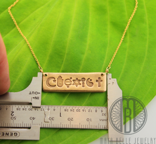 Coexist Bar Necklace - Maya Belle Jewelry
