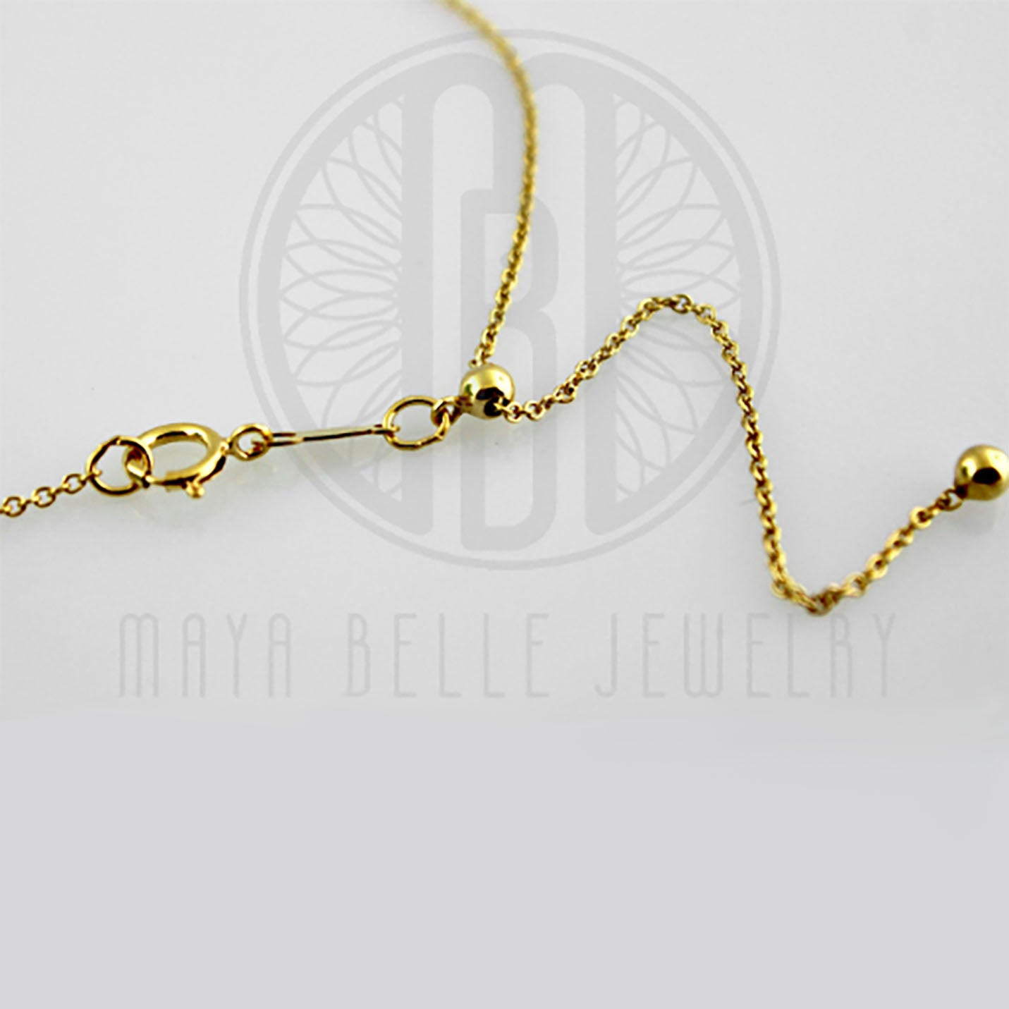 "14k GF 22"" Adjustable Cable Chain - Maya Belle Jewelry"