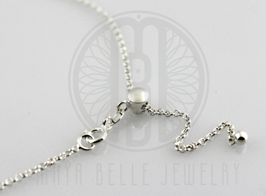 "Sterling Silver 22"" Adjustable ""Cable"" Chain - Maya Belle Jewelry"