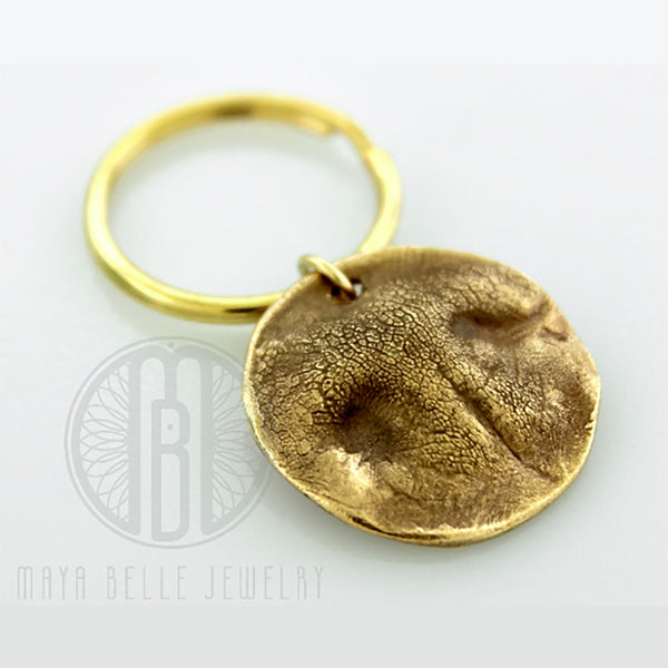 Dog Nose Print Keychain in Bronze - Maya Belle Jewelry