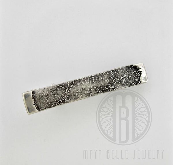 Actual dog paw print Tie Bar - Maya Belle Jewelry