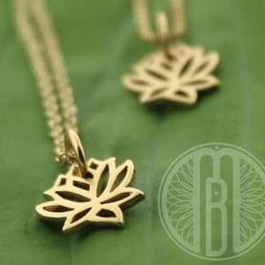 Ready to SHIP! 22k gold over sterling Lotus necklace • lotus blossom • lotus bloom necklace • minimalist gold jewelry - Maya Belle Jewelry