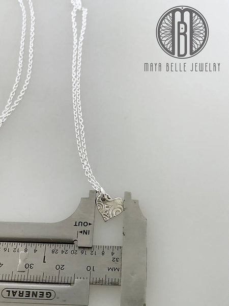 """Piece of My Heart"" cut out heart Pendant Necklaces, unique handmade jewelry mother daughter gift - Maya Belle Jewelry"