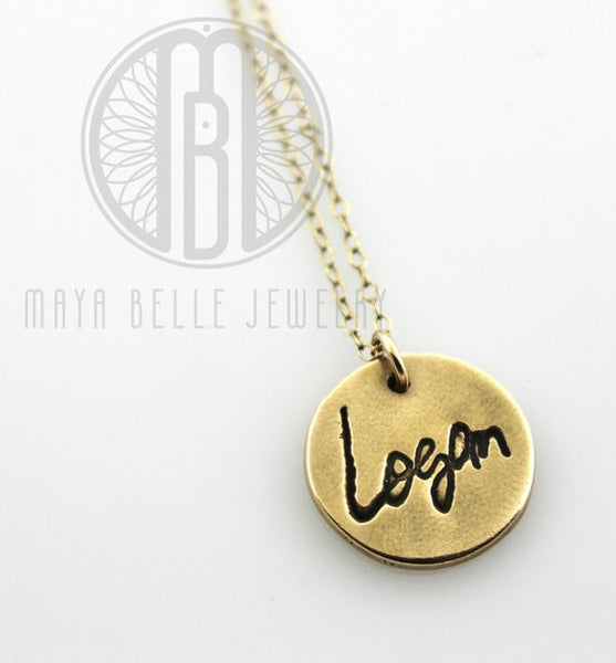 Actual handwriting necklace - Maya Belle Jewelry