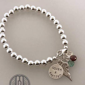 Sterling Silver Angel Wing Bracelet - Maya Belle Jewelry