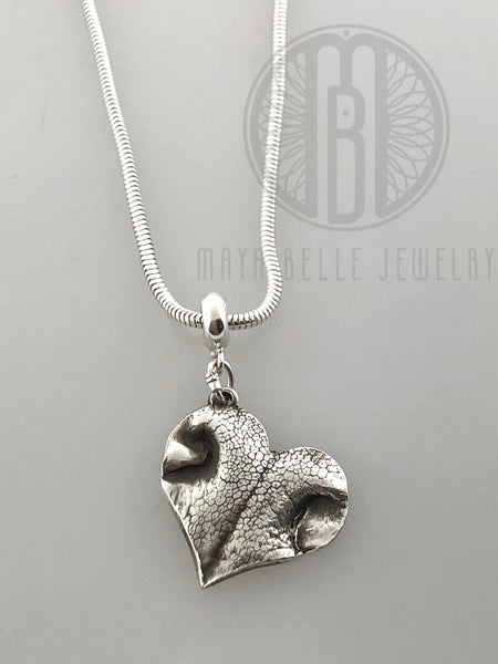 Dog Nose or paw Print slide necklace - Maya Belle Jewelry