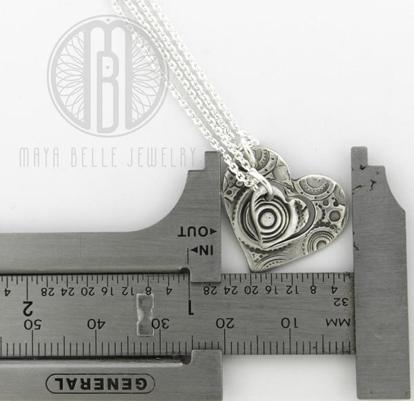 """Piece of My Heart"" cut out Pendant Necklaces, unique handmade puzzle necklaces - Maya Belle Jewelry"
