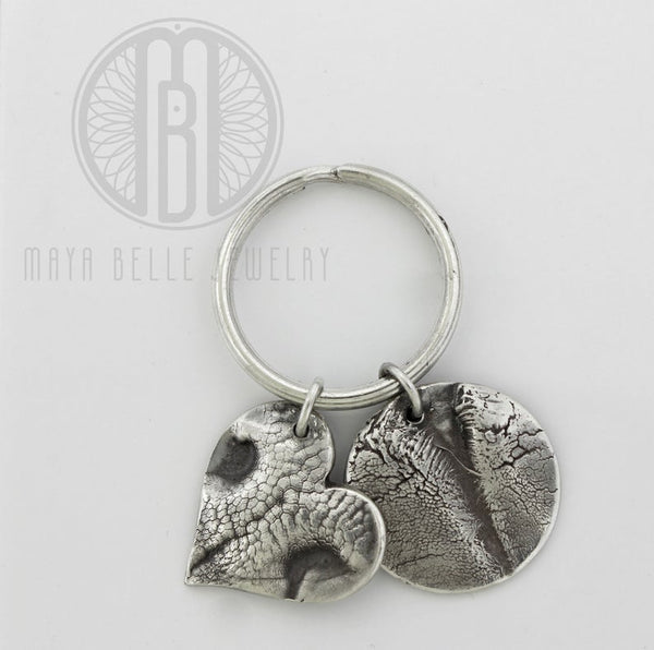 Two Large Molded Dog Noses Keychain - Maya Belle Jewelry