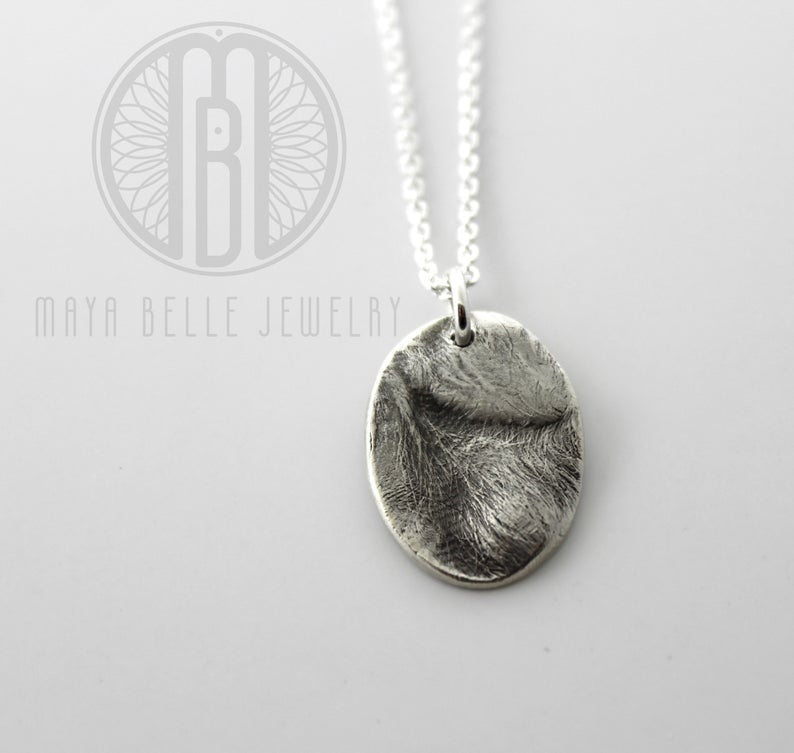 Pet Print keepsake charm necklace - Maya Belle Jewelry