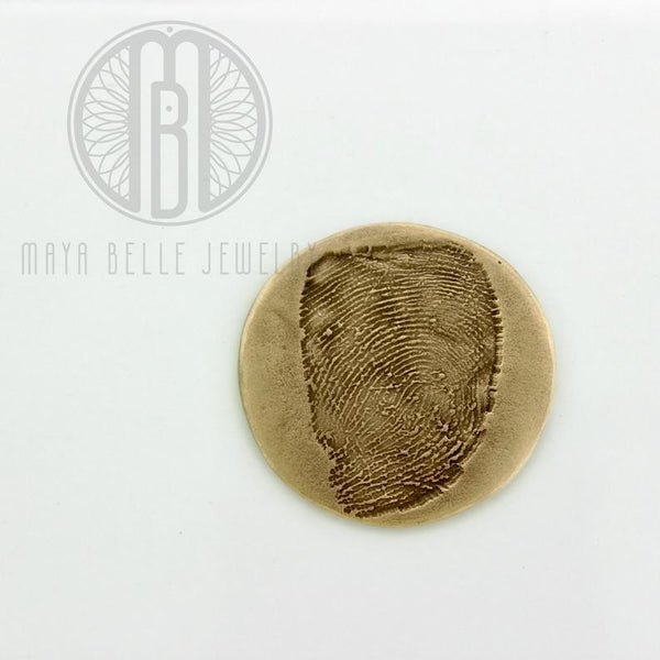 Fingerprint Good Luck Charm WITH actual handwriting - Maya Belle Jewelry