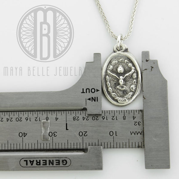Holy Spirit pure solid silver medallion