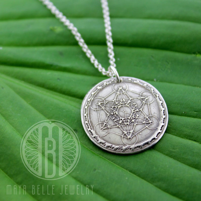 Sacred Geometry Metatron's Cube Pendant Necklace - Maya Belle Jewelry