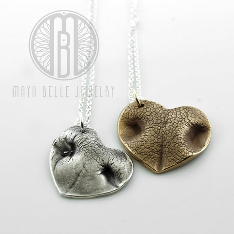 Extra large pet nose print keepsake - Maya Belle Jewelry
