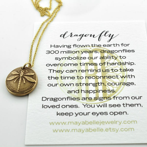 Dragonfly Fingerprint or thumbprint necklace - Maya Belle Jewelry