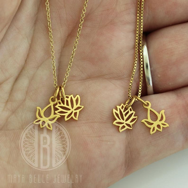 Dainty Lotus Necklace - Maya Belle Jewelry
