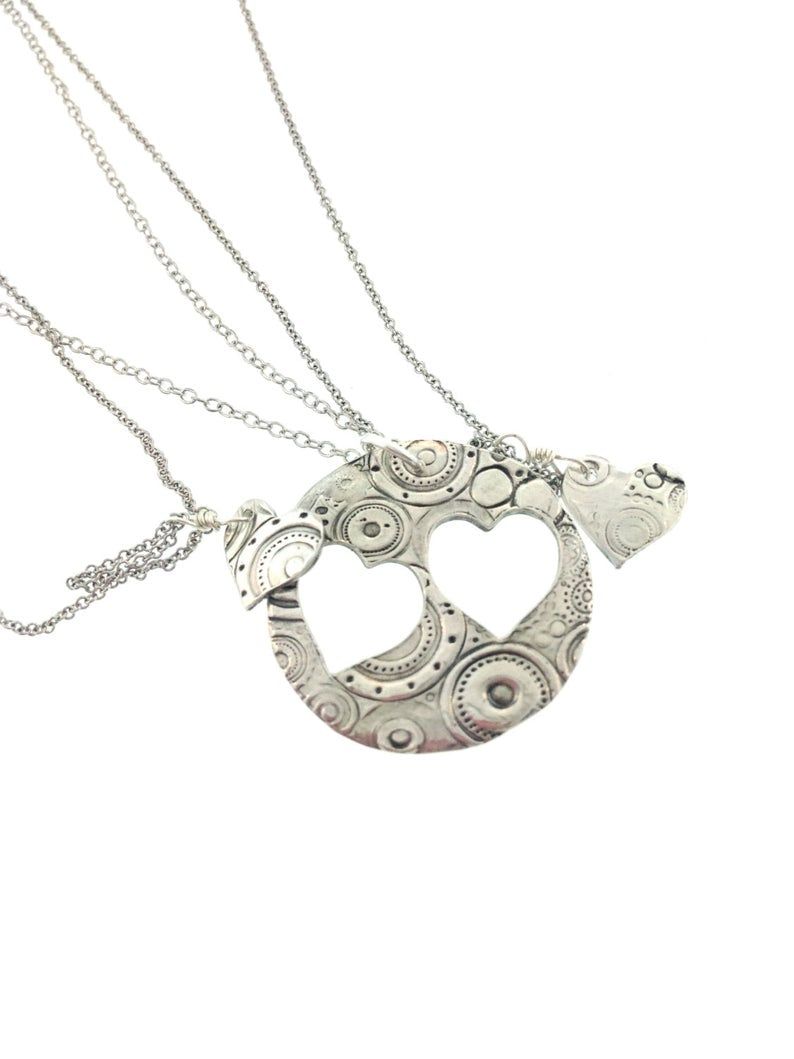 Mother Daughter Heart Necklace Set - Maya Belle Jewelry