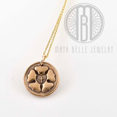 NEW Luther Rose Necklace bronze and gold necklace - Maya Belle Jewelry