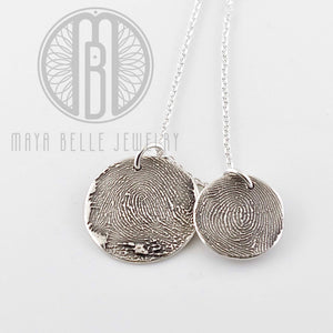 Classic Fingerprint circle necklace - Maya Belle Jewelry