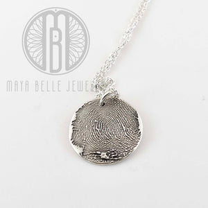 Classic Fingerprint necklace - Maya Belle Jewelry