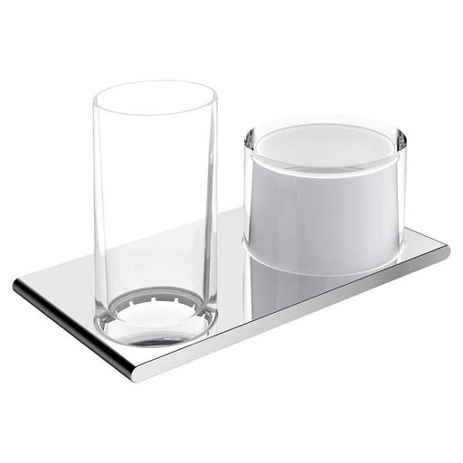 Keuco Edition 400 Double Holder Glass or Lotiondispenser 11553 - Unbeatable Bathrooms