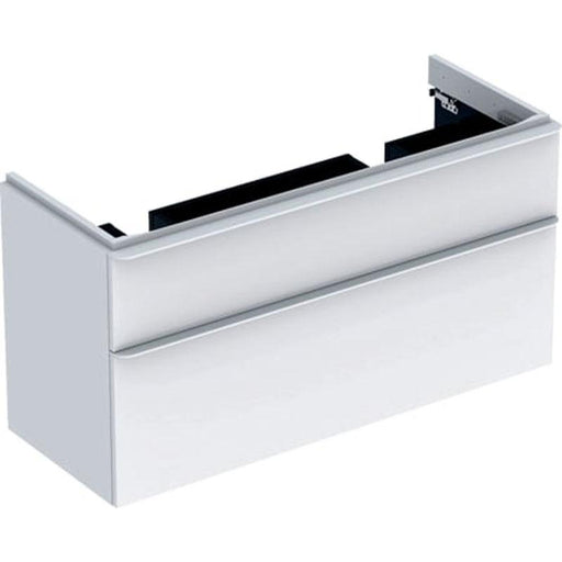 Geberit Smyle Square Cabinet for Double Washbasin, with Two Drawers - Unbeatable Bathrooms