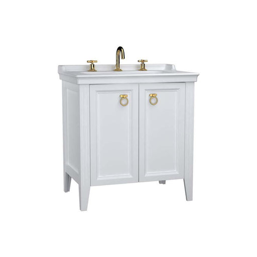 Vitra Valarte Washbasin Unit with 2 Doors and 3 Taphole Basin - Unbeatable Bathrooms