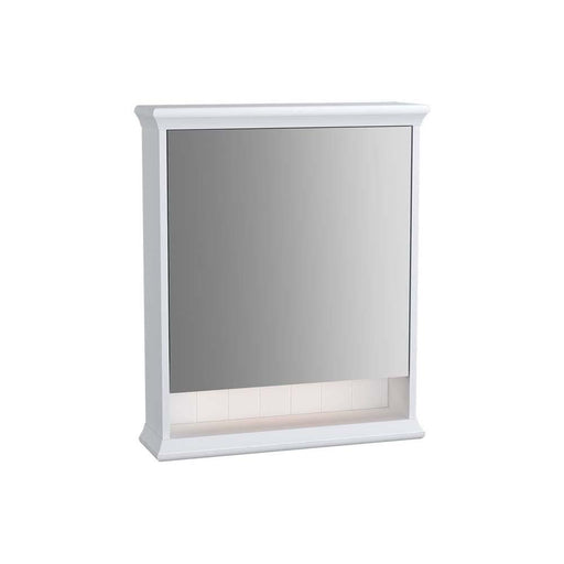 Vitra Valarte 65cm Left Hand Hinged Mirror Cabinet with Hard-Wired Led Lighting - Unbeatable Bathrooms
