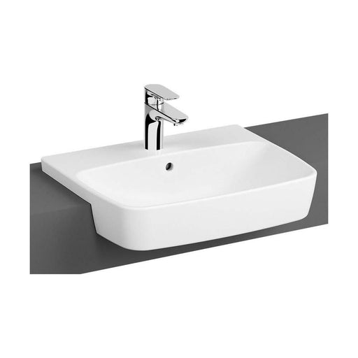 Vitra Shift Semi-recessed 55cm One Taphole basin - Unbeatable Bathrooms