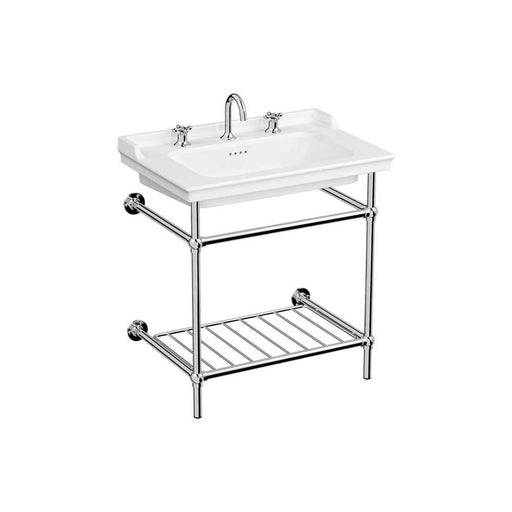 Vitra Valarte Vanity Basin with Chrome Frame Stand - Unbeatable Bathrooms