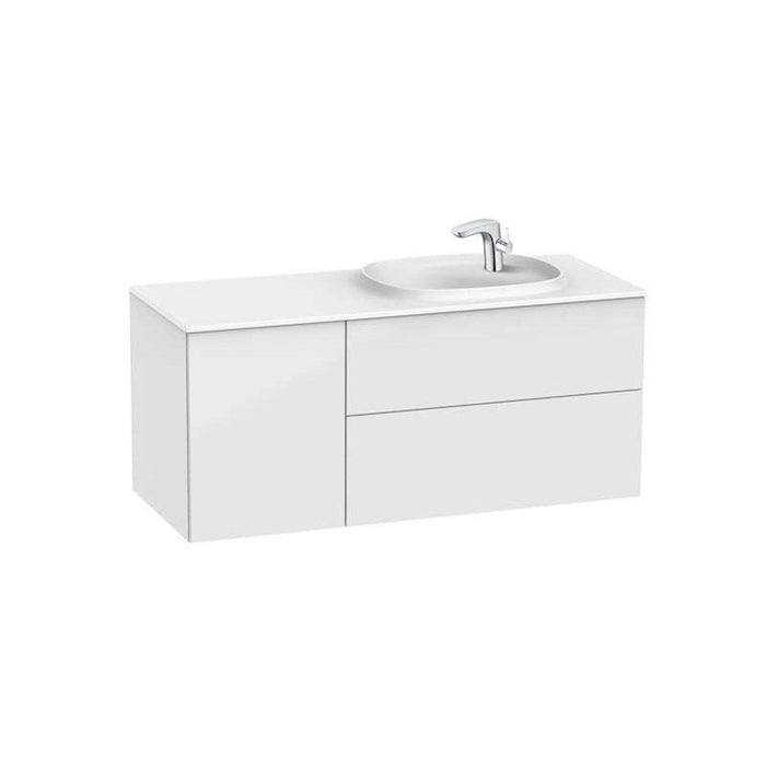 Roca Beyond Vanity Surfex Basin and Base Unit with 2 Drawers and 1 Door - Unbeatable Bathrooms