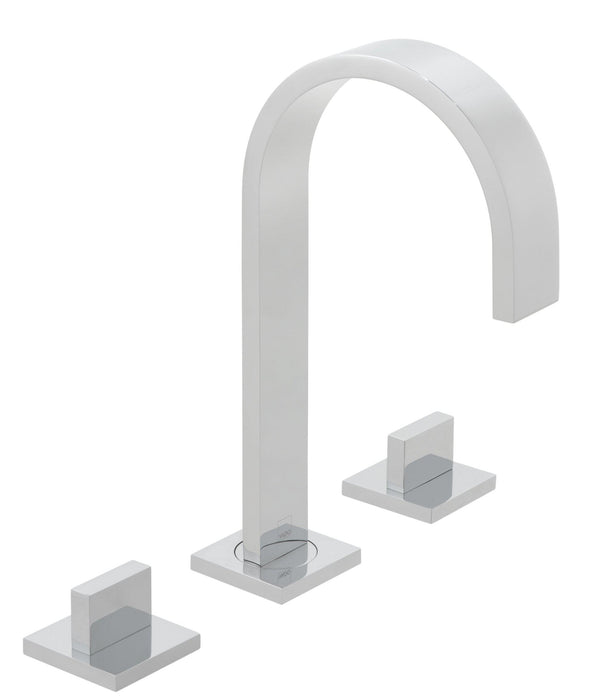 Geo 3 Hole Basin Mixer Spout Can Swivel or Be Fixed Deck Mounted Without Pop-up Waste - Unbeatable Bathrooms