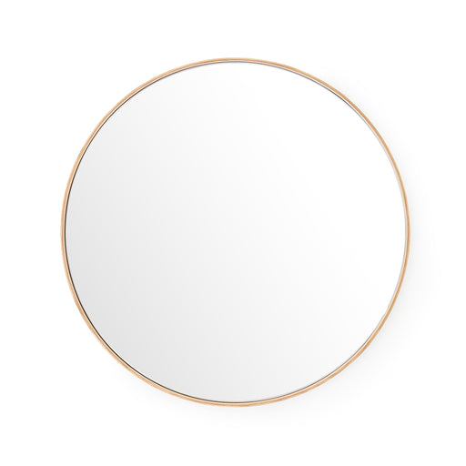 Glance Round Wall Mirror 660 - Natural Oak - Unbeatable Bathrooms