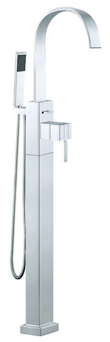 Instinct Bath Shower Mixer With Swivel Spout and Shower Kit Floor Mounted - Unbeatable Bathrooms