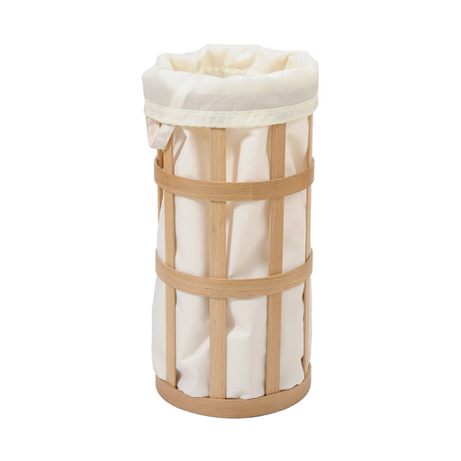 Laundry Basket Cage and Fabric Insert - Natural Oak - Unbeatable Bathrooms