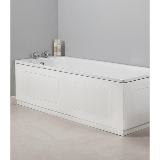 Tavistock Meridian 170cm Front Bath Panel White Routed - Unbeatable Bathrooms