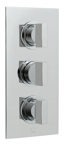 Notion 2 Outlet 3 Handle Thermostatic Shower Valve Wall Mounted - Unbeatable Bathrooms