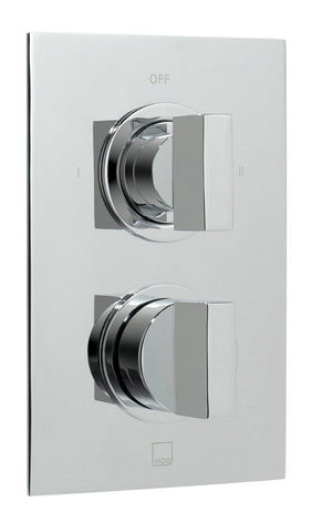 Notion 2 Outlet 2 Handle Thermostatic Shower Valve Wall Mounted - Unbeatable Bathrooms