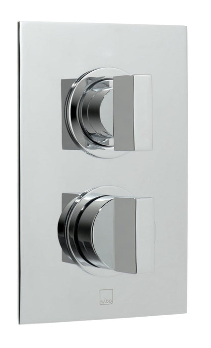Notion 1 Outlet 2 Handle Concealed Thermostatic Shower Valve Wall Mounted - Unbeatable Bathrooms