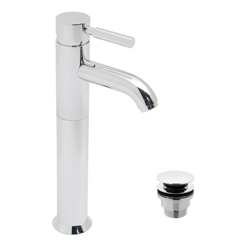 Origins Extended Mono Basin Mixer Smooth Bodied Single Lever Deck Mounted With Clic-clac Waste - Unbeatable Bathrooms