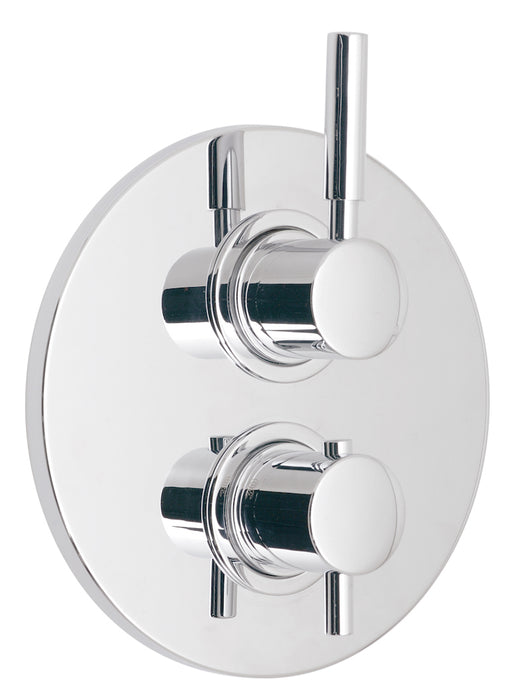 Origins 1 Outlet 2 Handle Concealed Thermostatic Shower Valve Wall Mounted - Unbeatable Bathrooms