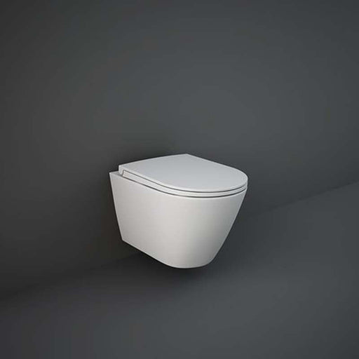 Rak Feeling Rimless Wall Hung Pan and Soft Close Seat - Unbeatable Bathrooms