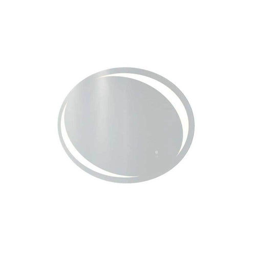 Rak Hades 90cm x 60cm Led Illuminated Oval Mirror with Demister and Touch Sensor Switch - Unbeatable Bathrooms