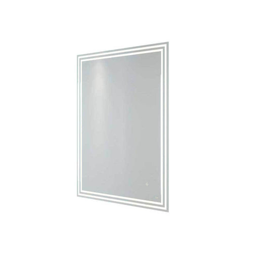 Rak Hermes 60cm x 80cm Led Illuminated Portrait Mirror with Demister,Shavers Socket and Touch Sensor Switch - Unbeatable Bathrooms