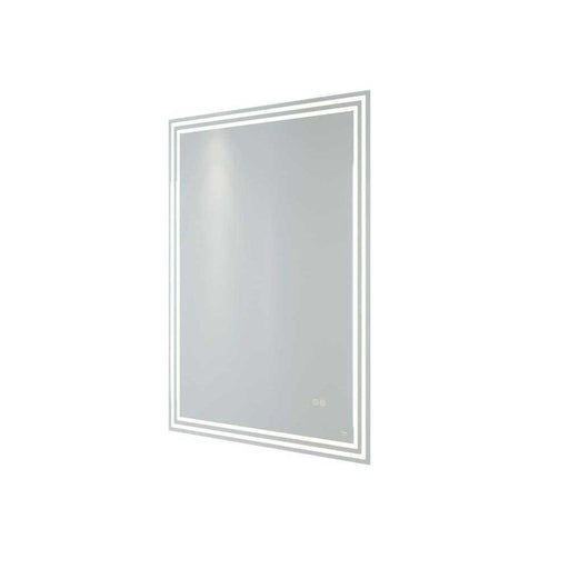 Rak Hermes 60cm x 80cm Led Illuminated Portrait Bluetooth Mirror with Demister,Shavers Socket and Touch Sensor Switch - Unbeatable Bathrooms