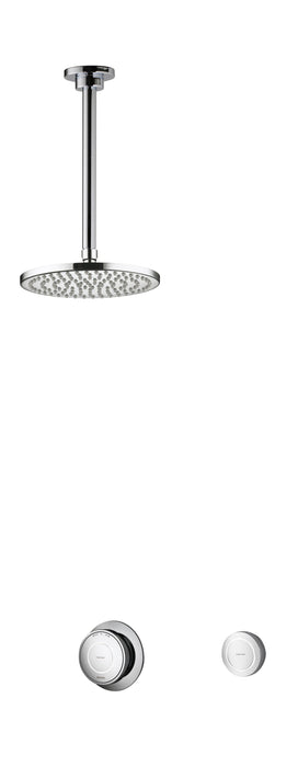 Rise Smart Concealed Shower Ceiling Mounted Drencher Head - Unbeatable Bathrooms