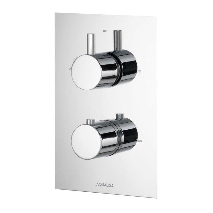 Rise Thermostatic Concealed Shower Valve with Dual Outleter - Unbeatable Bathrooms