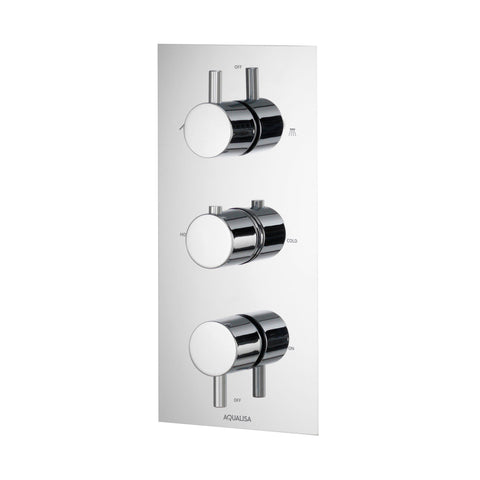 Rise Thermostatic Concealed 3 Way Shower Valve - Unbeatable Bathrooms