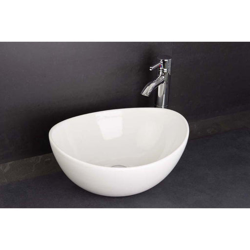 Rak Shell Sit-On Countertop Basin 39cm Wide - No Taphole - Unbeatable Bathrooms