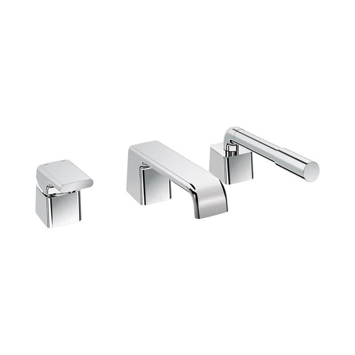Sottini Melito Single Lever 3 Hole Bath Shower Mixer and Pullout Handspray - Unbeatable Bathrooms